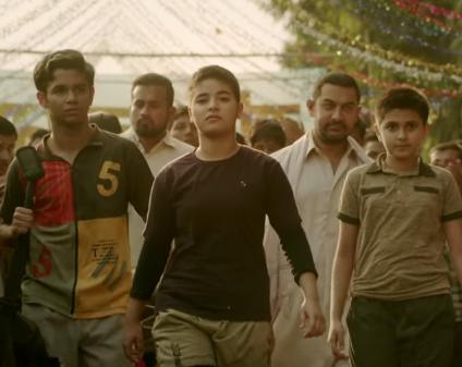 Aamir prepares his daughters for `Dangal` in first song