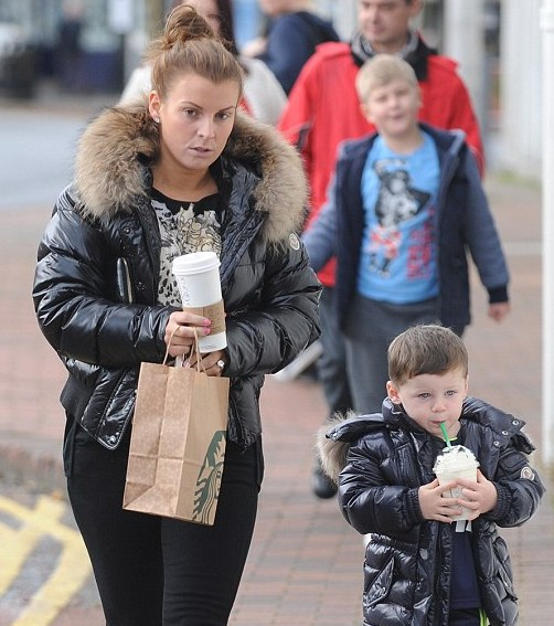Kai Rooney and mum Coleen wear matching jackets on day out