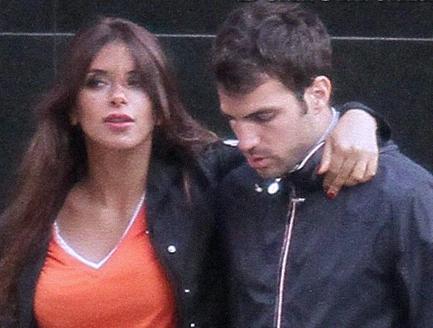London july 25 cesc fabregas and his girlfriend daniella semaan