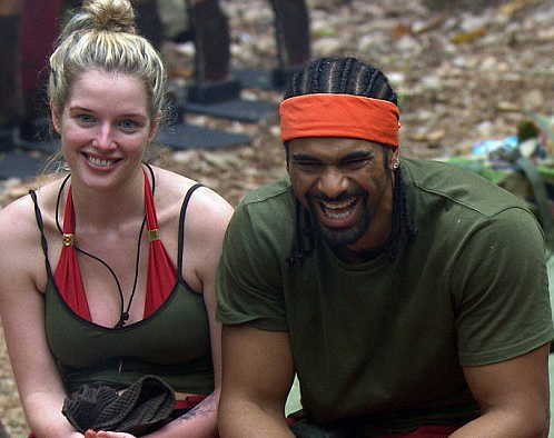 Helen Flanagan clings on to David Haye to escape trial on reality TV show