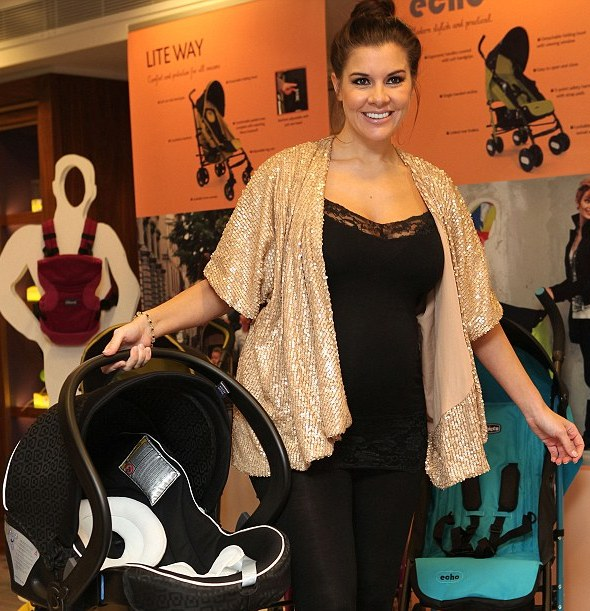 Pregnant Imogen Thomas shows off freebie haul from baby product launch