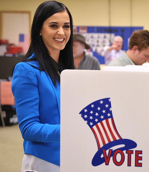 Celebs turn polling booth into photoshoot while voting in U.S. elections