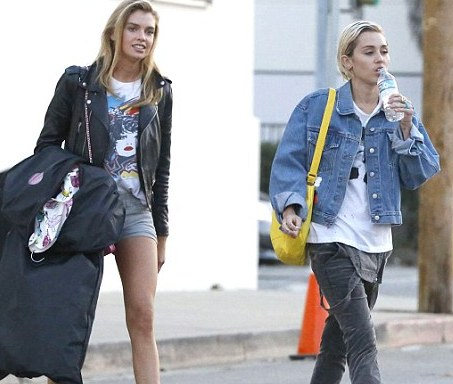 It's official: Miley Cyrus dating Victoria's Secret model