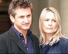 Sean Penn and his wife Robin Wright Penn