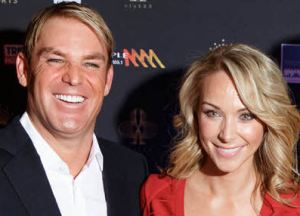 Shane Warne and Emily Scott