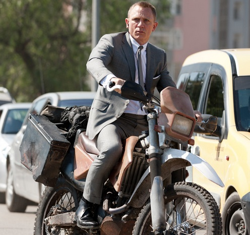 'Skyfall' motorcycle up for grabs