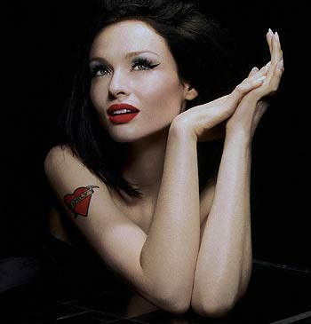 Sophie Ellis Bextor ... at this year's Dublin Gay Pride fest – get that rainbow flag out!