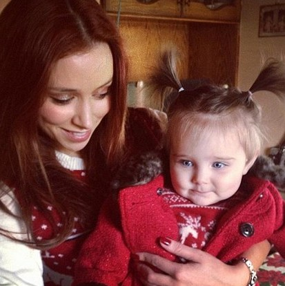 Una Healy and daughter Aoife Belle Foden's stylish Xmas
