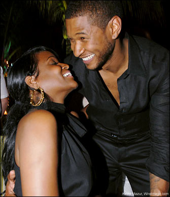 Singer Usher and wife Tameka Foster
