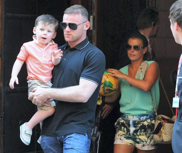 Wayne and Coleen overjoyed at being reunited with son Kai