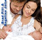 Angelina Jolie Brad Pitt twins 1