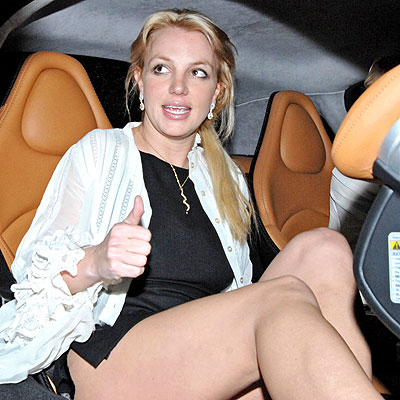 britney spears in car