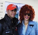 Rihanna and Lewis Hamilton