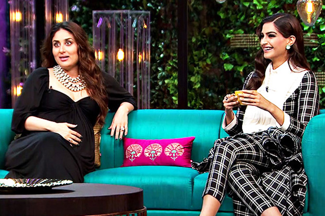 Bebo,Sonam grace KJo's couch with hilarious chunks of gossips