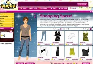 Stardoll.com is Brit kids' most popular site
