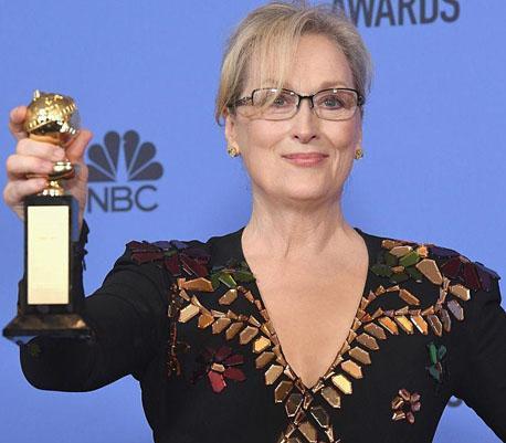 Hollywood applauds Meryl Streep's Golden Globes Speech