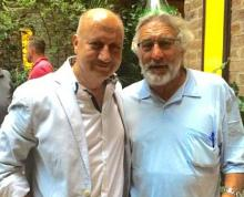 Anupam Kher meets Robert De Niro in New York