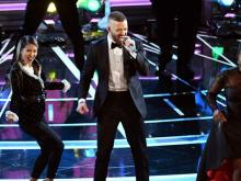Justin Timberlake warms up for the Oscars