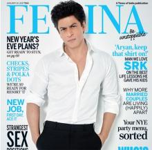 SRK looks sassy on cover of Femina's New Year issue