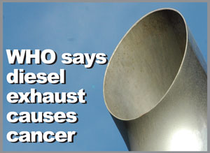 Diesel exhaust causes cancer, warns WHO