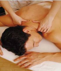 Massaging promotes pain relief, muscle recovery