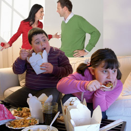 Kids with stressed-out parents likelier to be obese