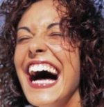 person laughing