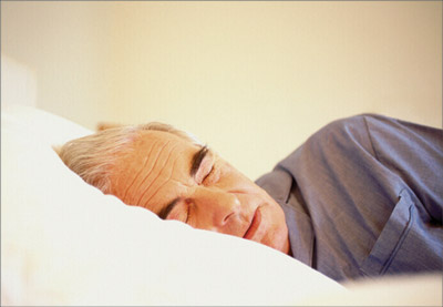 Older person asleep
