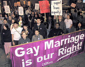 Gay couples want legal rights, regardless of marriage