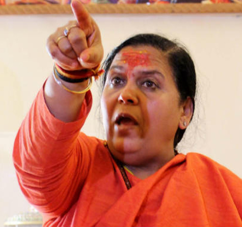 Uma Bharti says as MP CM she made rapists beg for forgiveness