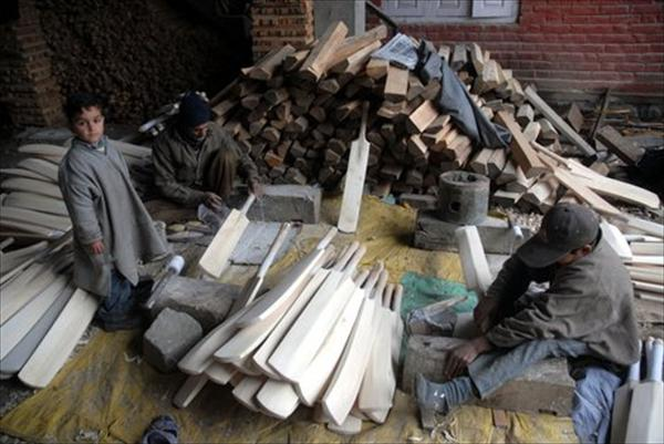 Kashmir's willow bat industry anticipates huge sales during Indo-Pakistan Series
