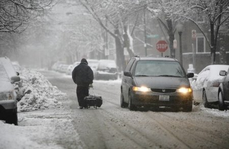 Chicago's O'Hare International Airport due to heavy snowfall Saturday