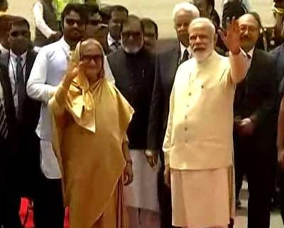 PM Modi receives Bangladesh PM Hasina in New Delhi