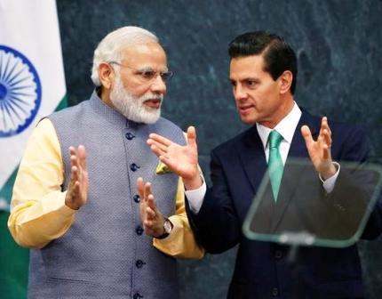PM Modi arrives in Mexico, to meet Prez Peña Nieto