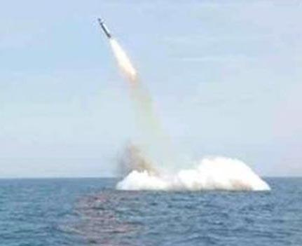 North Korea 'successfully' test fires submarine-launched missile