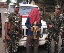 'Ashtadhatu' idol worth Rs. 45 crore seized along Indo-Nepal border