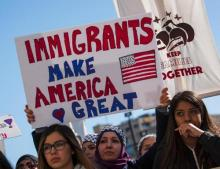 """Immigrant employees in U.S. go on strike to mark """"A Day Without Immigrants"""""""
