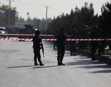 Five suicide bombers attack military hospital in Kabul