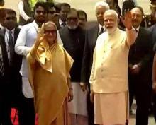 PM Modi receives Bangladesh PM Hasina in New Delhi