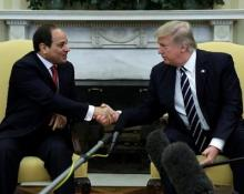 """Trump praises Egyptian President for doing a """"fantastic job"""""""
