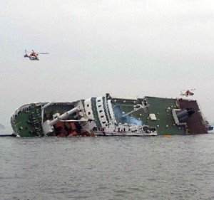 Ship carrying 350 passengers sinking off South Korean coast