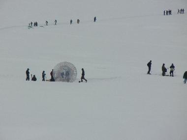 New adventure sport Zorbing entices tourists to Gulmarg