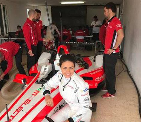 Gul Panag- 1st Indian woman to drive Formula E racing car