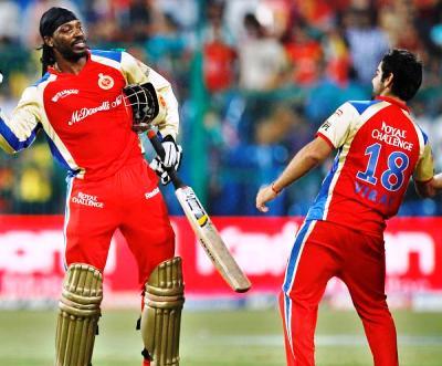 Gayle gushes over `most destructive pair` of Kohli- De Villiers