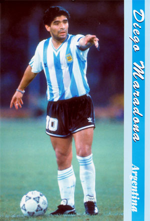 Football player Diege Maradona.