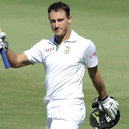 Johannesburg  Nov 15 - South African captain Faf du Plessis has    Faf Du Plessis