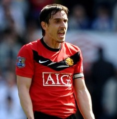 Don't rely on Liverpool for title favour, Neville warns Man U