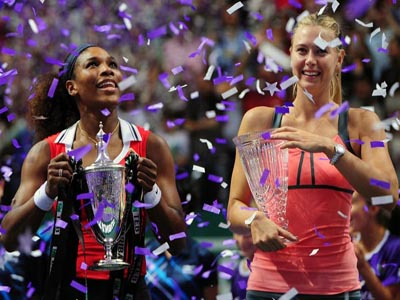 Williams defeats Sharapova to win WTA championships