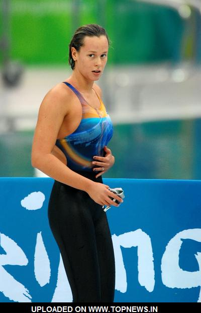 Federica Pellegrini At 2008 Olympic Games Day 7