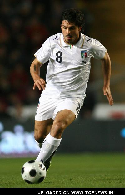 Gennaro Gattuso at Spagna Vs. Italia Friendly Soccer Match